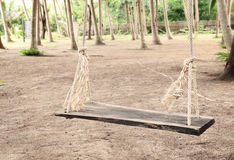 swing with rope in the park Stock Photos