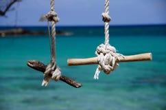 Swing Ropes and knots at Beach 69 Royalty Free Stock Photos
