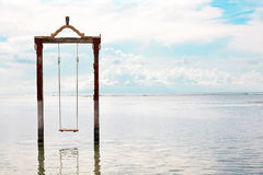 Swing in the sea Stock Images