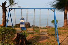 Swing and sea Stock Photos