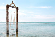 Swing in the sea Royalty Free Stock Photos
