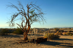 Swing Seat. In the desert at Salvation Mountain, California Royalty Free Stock Image