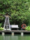 Swing Seat. Singapore - August 2016 Swing seat along the broadwalk at the Gardens Stock Photo