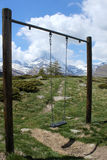 Swing seat, Zermatt Royalty Free Stock Photography