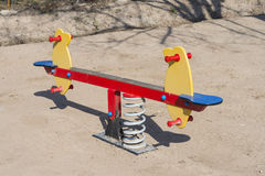 Swing. Seesaw for children royalty free stock photos