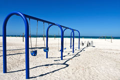 Swing Set on the Beach Royalty Free Stock Photo