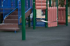 Empty Children`s Playground Stock Photo