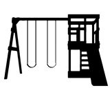 Swing Set,  Jungle Gym, and Slide Vector Royalty Free Stock Photography