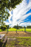 Swing Set in the Park Stock Photos