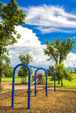 Swing Set in the Park Royalty Free Stock Photos