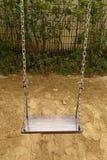 Swing set on the playground Royalty Free Stock Image