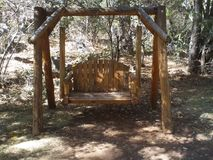 Swing set In Sedona. Out in the park in the fall Arizona stock photography
