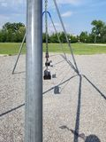Swing Set. A still swing set with no one around royalty free stock image