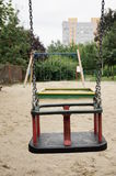 Swing set. At a play ground stock images