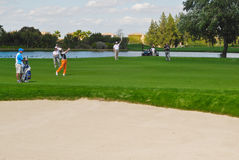 Swing Siem. 2012 Spain Open golf tournament takes place at the Real Club de Golf de Sevilla from 3-6 may Stock Photos