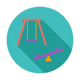 Swing. Single flat icon. Royalty Free Stock Photos