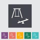 Swing. Single flat icon. Royalty Free Stock Image