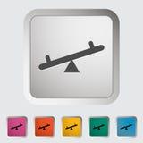 Swing. Single icon. Royalty Free Stock Image