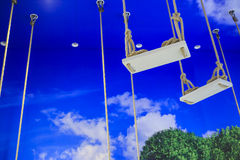 Swing in the sky Royalty Free Stock Photo