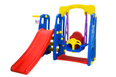 Swing and slider playground Royalty Free Stock Image