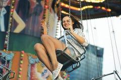 Swing Spinning Amusement Carnival Enjoyment Concept Stock Image