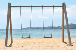 Swing. Summer swing on the beach Stock Images