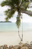 Swing tied on the beach Royalty Free Stock Photos