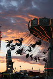 Swing time at the carnival Stock Photography