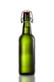 Swing top bottle of light beer isolated on white background Royalty Free Stock Photos