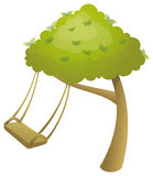 Swing and tree Stock Image