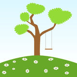 Swing and tree Royalty Free Stock Photography