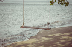 Swing on a tropical beach at Koh Chang island. Royalty Free Stock Photo