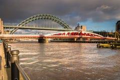 Swing and Tyne Bridges Stock Photos