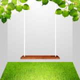 Swing and vegetation in the room. Royalty Free Stock Images