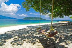 Swing and view of Andaman sea,Thailand Royalty Free Stock Images