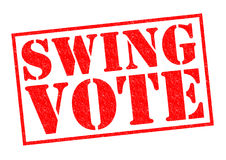 SWING VOTE. Red Rubber Stamp over a white background Royalty Free Stock Photo