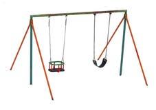 Swing in winter Stock Image