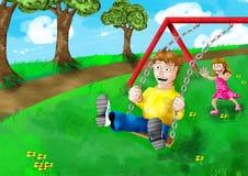 swing wiosny Zdjęcia Stock