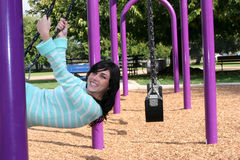 Swing Woman Royalty Free Stock Images