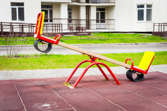 Swing in the yard Stock Photography