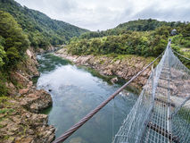 Swingbridge over buller river Royalty Free Stock Images