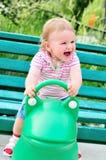 Swinging baby Royalty Free Stock Image