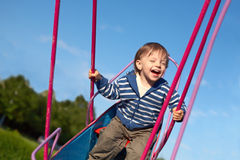 Swinging baby Royalty Free Stock Images