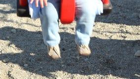 Swinging Baby Feet stock video