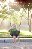 Swinging Boy stock photography