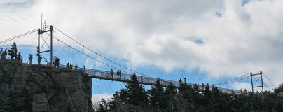 Swinging Bridge - Grandfather Mountain NC Royalty Free Stock Photos