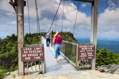 Swinging Bridge Grandfather Mountain North Carolina Royalty Free Stock Photo