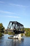 Swinging bridge Royalty Free Stock Photo