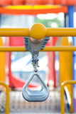 Swinging and climbing metal bar Stock Image