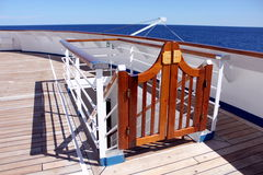 Swinging Doors. Photograph of swinging doors on the deck of a cruise liner Stock Photography